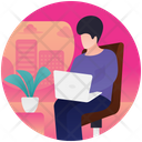 Employee Working Working Time Working Person Icon