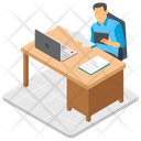 Employee Working Icon