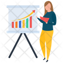 Graph Presentation Employee Workshop Seminar Icon