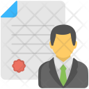 Employer Certificate Employee Icon