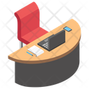 Employer Table Workplace Work Desk Icon