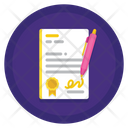 Employment Contract Aggrement Job Icon