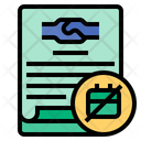 Employment Contract Expiration Contract Expiration Contract Icon