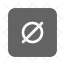 Empty Set Math Icon
