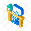 Empty Workplace Isometric Icon