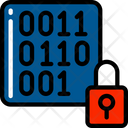 Encrypt Data Binary Numbers Icon