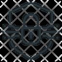 Blockchain Encrypted Lock Icon