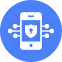 Encrypted Antivirus App Data Protection Mobile Safety Icon