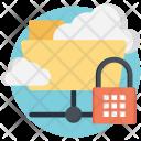 Encrypted Cloud Storage Icon
