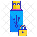 Encryption Pendrive Usb Icon