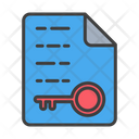 Encryption File Document File Icon