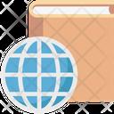 Encyclopedia Globe With Book Book Icon