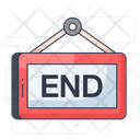 End Board End Signboard Placard Icon