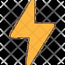 Energy Flash Lightning Icon