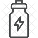 Drink Energy Flash Sign Bottle Icon