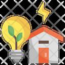 Energy Efficient Save Energy Eco House Icon