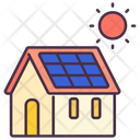 Energy Sun Home Icon