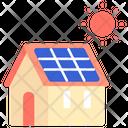 Energy Sun Home Icon