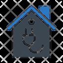 Energy House Power Icon