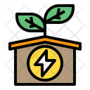 Energy Ecology House Icon