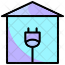Energy House Green Green Home Icon