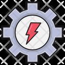 Energy Gear Power Icon