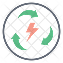 Energy Recycling Process Electric Bolt Energy Reuse Icon