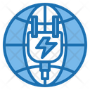 Energy Save Electric Station Energy Plant Icon