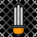 Energy Saver Fluorescent Light Bulb Icon