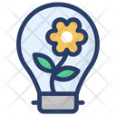 Energy Saving Eco Light Green Light Icon