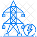 Energy Utility Power Transmission Electric Pole Icon