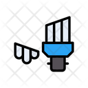 Energysaver Broken Bulb Icon