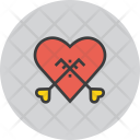Engagement Heart Key Icon