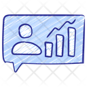 Audience Growth Chart Graph Icon