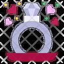 Ring Engagement Diamond Ring Icon