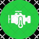 Engine Motorcycle Temperature Icon
