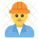 Male Constructor Worker Icon