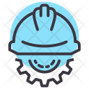 Engineer Helmet Construction Icon