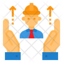 Engineer Manufacturing Hand Icon