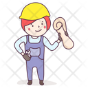 Engineer Labour Builder Icon
