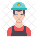 Worker Engineer Man Icon