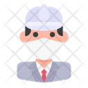 Avatar Man Medical Mask Icon