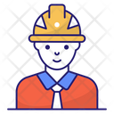 Engineer Construction Worker Icon
