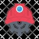 Engineer Helmet Cogwheel Icon