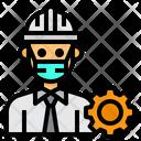 Engineer Gear Man Icon