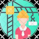 Engineer Contractor Field Icon