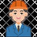 Engineer Worker Man Icon