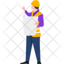 Engineer Blueprint Worker Icon