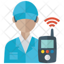 Engineer With Walkie Talkie Icon