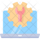 Engineering Monitor Cogwheel Icon